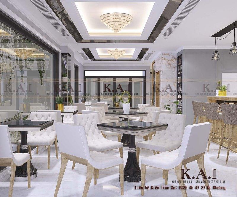 Mẫu thiết kế quán cafe Tân Cổ Điển