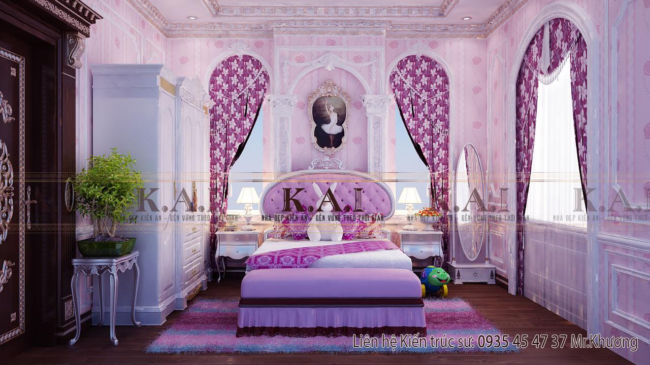 Biến hóa nội thất phòng ngủ công chúa cho bé gái