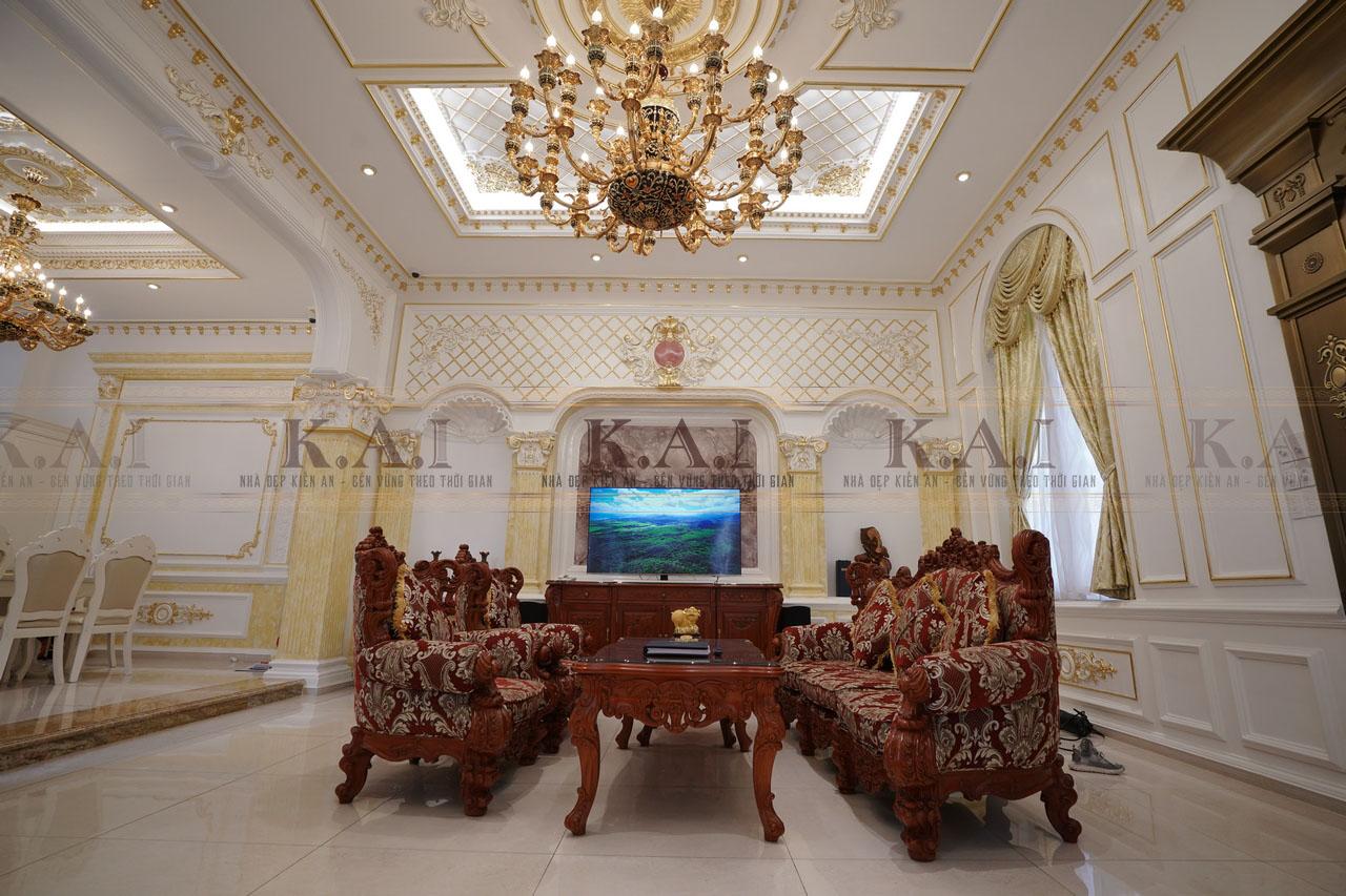 Dự án thiết kế thi công nội thất phòng khách
