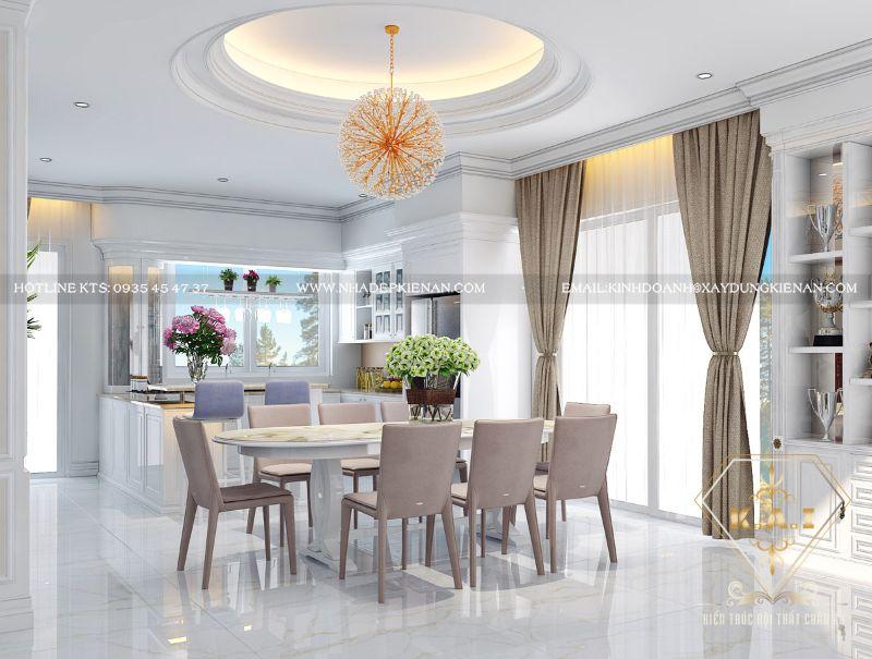 Top 10+ thiết kế nội thất phòng bếp biệt thự sang trọng
