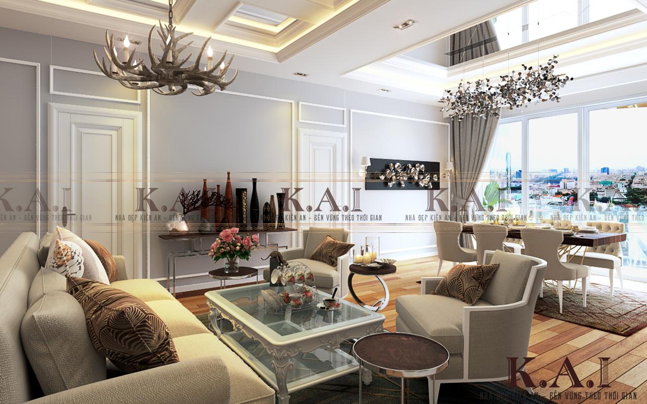 Mẫu thiết kế phòng khách chung cư cực đẹp và cuốn hút