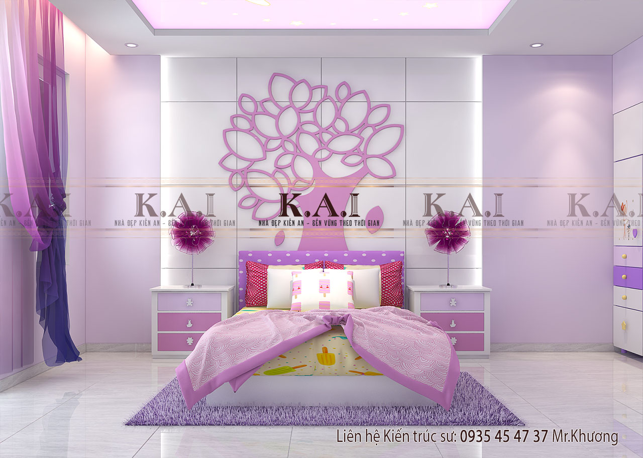 Ý tưởng thiết kế phòng ngủ cho bé gái vừa xinh vừa thoải mái