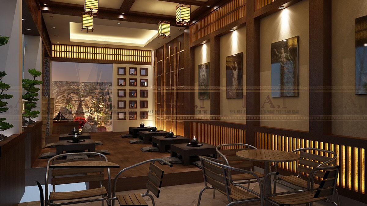 Thiết kế quán cà phê phong cách Nhật Bản