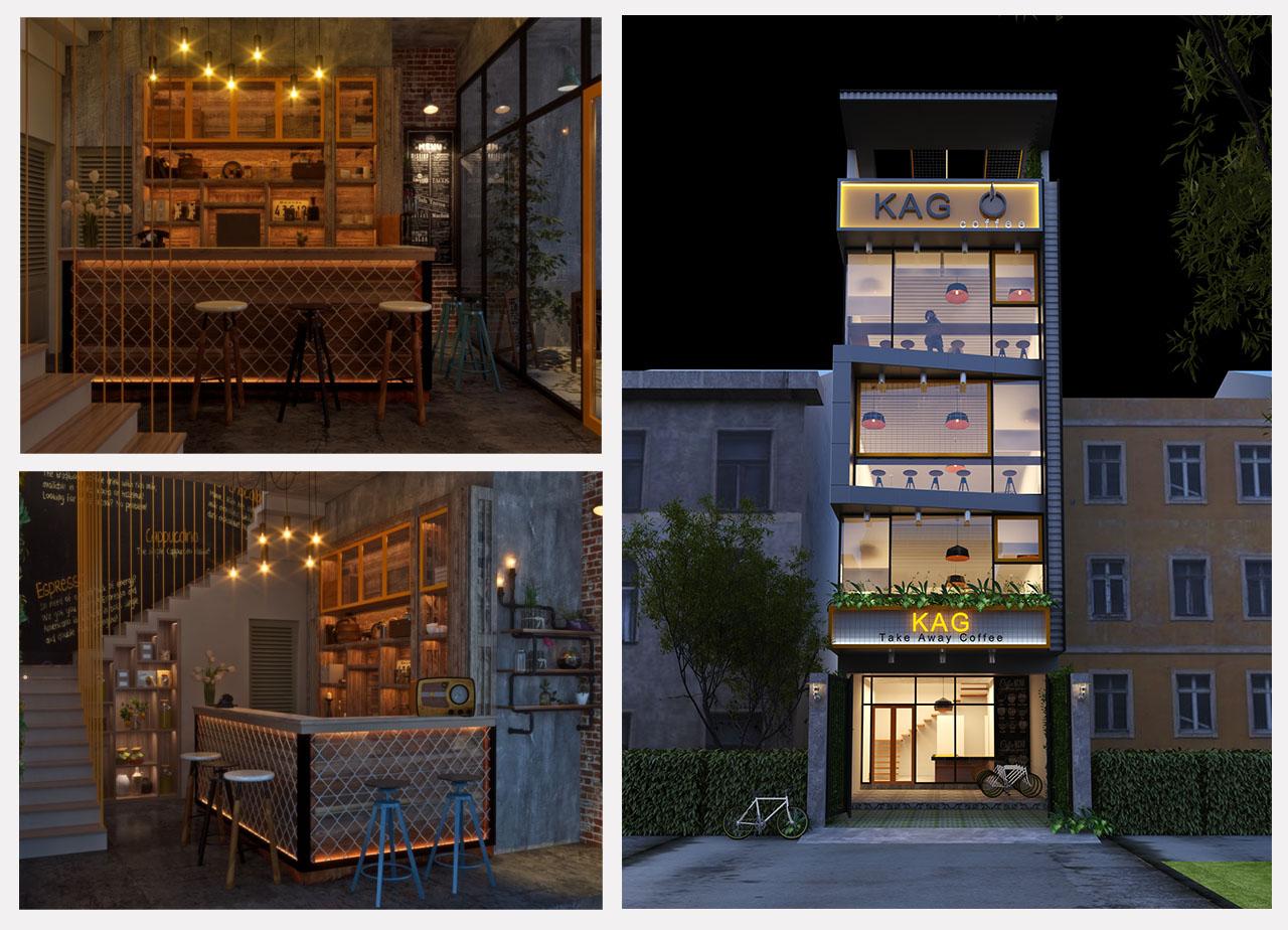 Dự án thiết kế quán cà phê gia đình KA – Chị Vân, Gò Vấp