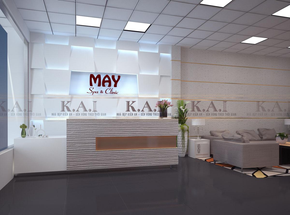 Dự án thiết kế văn phòng thẩm mỹ viện MAY – chị Thảo