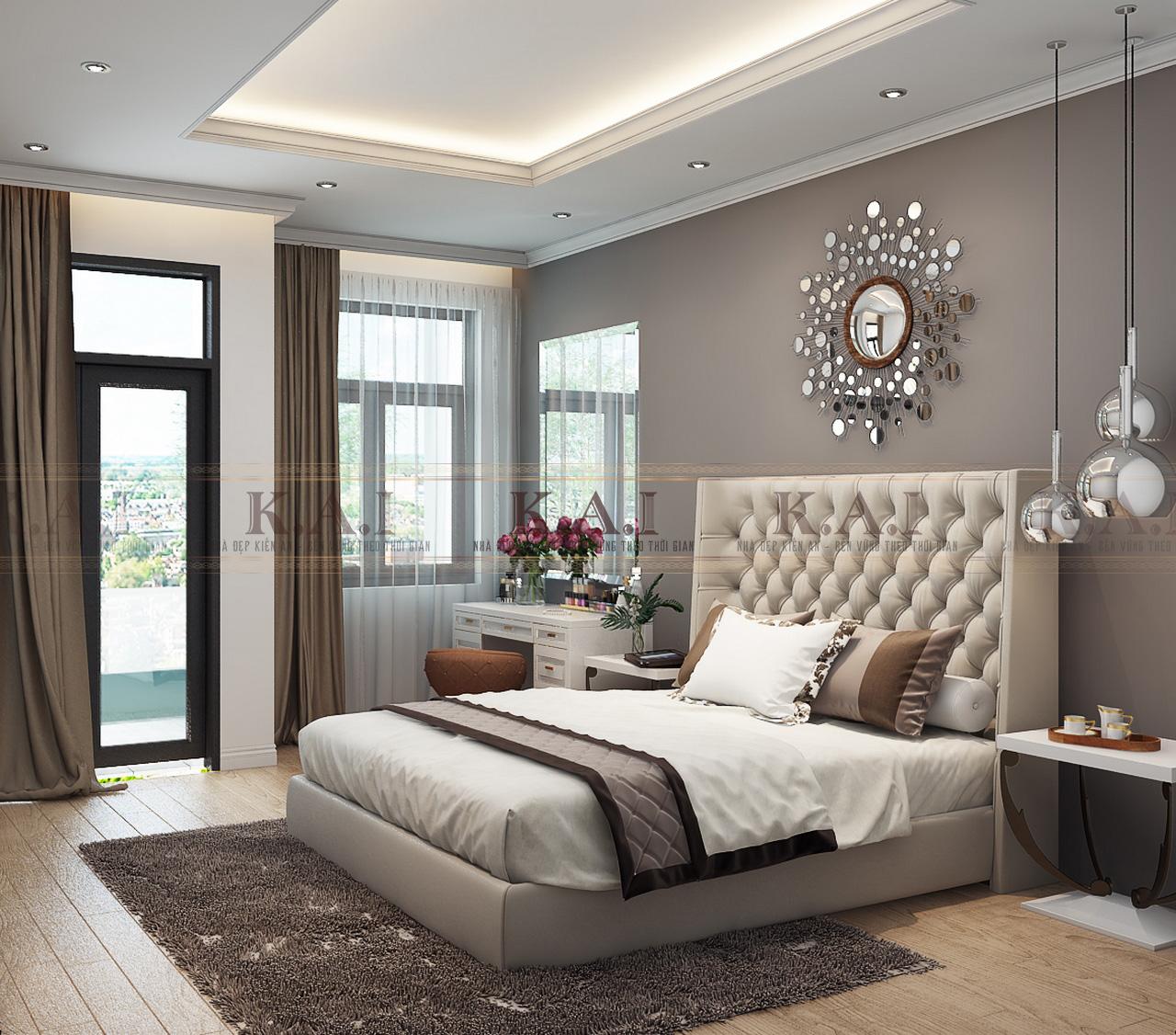 Thiết kế phòng ngủ châu Âu hiện đại