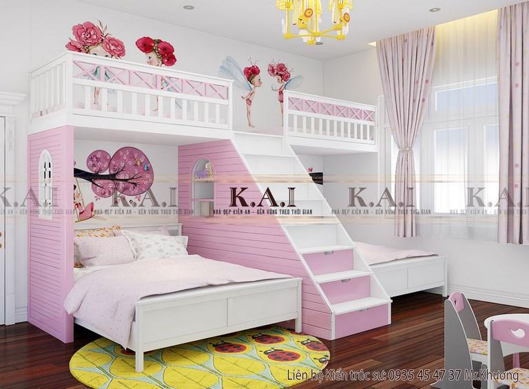 Thiết kế giường tầng đẹp và đa năng cho phòng ngủ của con
